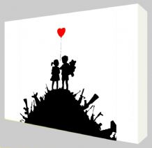 Banksy Kids on Guns Canvas Art - NEW - Choose your size - Ready to Hang
